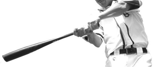 草野球バッティング画像