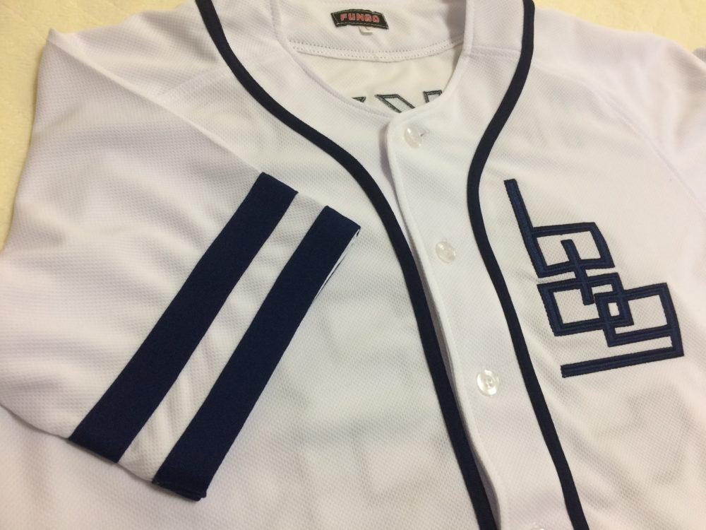 ファンゴ製作 野球ユニフォームシャツ 完成画像