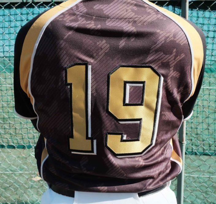 オリジナル野球ユニフォーム 背番号
