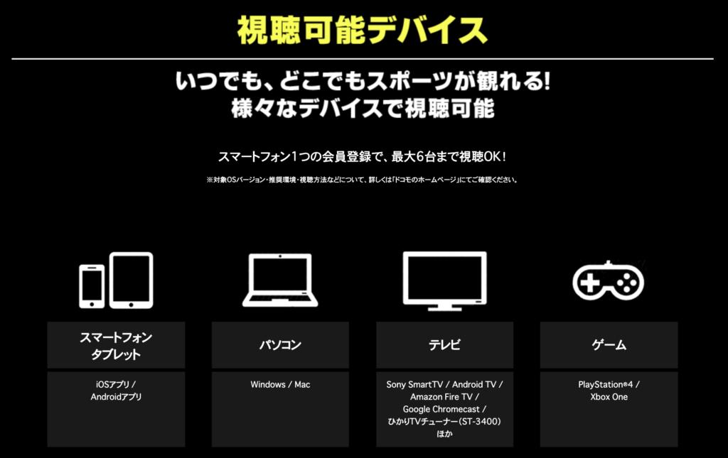 ダゾーン 視聴可能デバイス